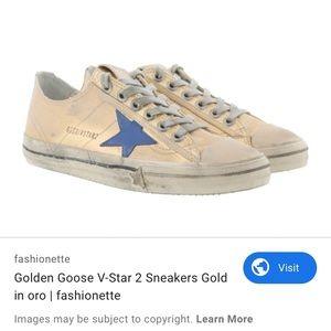 EUC golden goose v star sneakers size 5